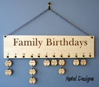 Family Birthday Board - DIY project