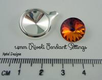 Pendant setting for Rivoli 14mm Swarovski Crystal