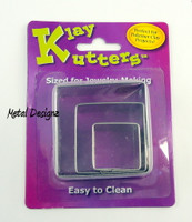 Klay Cutter - PMC Tool - Square set of 3 Cutters