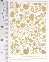 Laser Cut Texture Paper - Fun Hearts