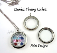 Stainless Floating Locket - Customizable, and ready to wear!  Stainless chain too! Shop now!