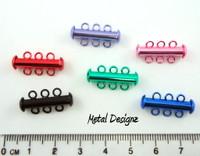 3 strand slide clasp - BRIGHT COLOURS