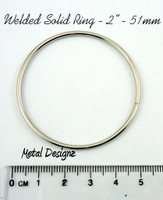 2 inch Solid Welded Rings - Silver Toned