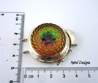 Czech Pressed Glass Clasp - Studio Indah