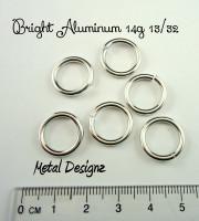 """Bright Aluminum 14g 13/32"""" Jump Rings - Saw Cut Premium Jump RIngs"""