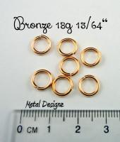 """Bronze 18g 13/64"""" Jump Rings - Saw Cut Premium Jump Rings"""