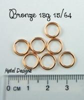 """Bronze 18g 15/64"""" Jump Rings - Saw Cut Premium Jump RIngs"""