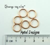 """Bronze 18g 9/32"""" Jump Rings - Saw Cut Premium Jump RIngs"""