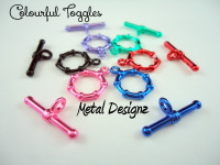 12mm Beaded toggle - Buy Canadian - Toggle claps in stunning colours