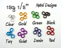 New Anodized Aluminum Jump Rings 18 Gauge 1/8""