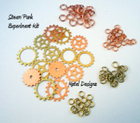 Steampunk Experiment Kit - Gears and Rings - No instructions!