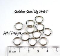"""Stainless Steel Jump Rings 18 Gauge 19/64"""" id."""