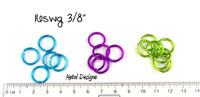 "New Anodized Aluminum Jump Rings 16 Gauge 3/8"""