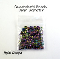 CzechMates Glass 6mm Four-Hole QuadraLentil Bead