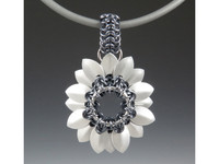 Karen Karon Tiny Scale Flower Pendant Kit - Kit only - No Tutorial included