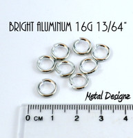 Bright Aluminum Jump Rings 16 Gauge 13/64""