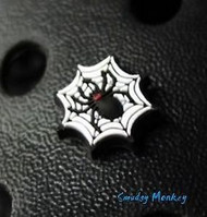 Halloween Black Widow SPIDER Web Jibbitz Shoe Charm NEW