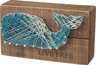 Live Free - Blue Whale String Art