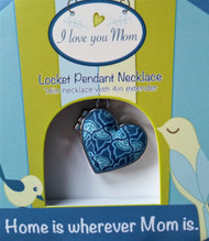 Beautiful blue polymer clay inlay.  Handcrafted with love.