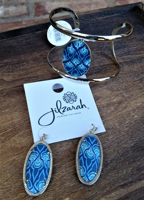 Jilzarah's Marina Blue 2 piece gift set comes with free gift boxes
