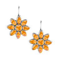 Phoenix flower earrings.  Jilzarah's brilliant new design in yellow and orange.