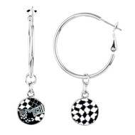 Black and White Reversible Earrings.  Like getting 2 pairs of earrings!
