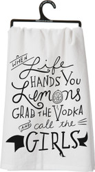When Life Hands You Lemons, Grab The Vodka and Call The Girls!   LOL Girlfriend Humor from Primitives By Kathy