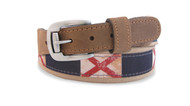 Alabama State Flag Ribbon Belt. Zep-Pro is a manufacturer of fine leather belts in the USA