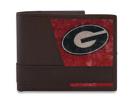 Vintage UGA Logo Bifold Wallet. Officially licensed by the NCAA