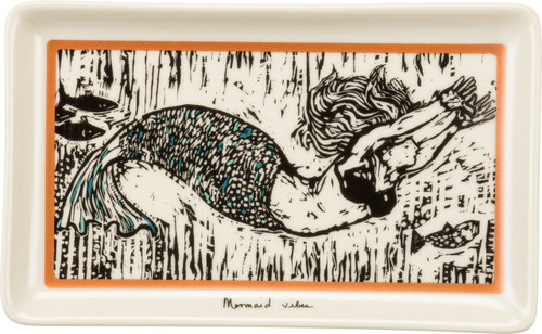 Mermaid Vibes Trinket Tray featuring original artwork of Robert  Patierno UPC 883504352055