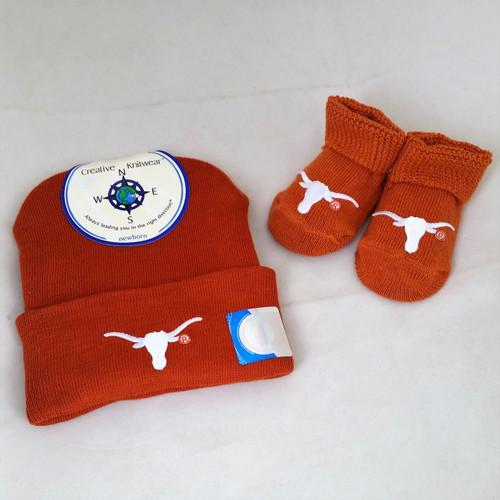 University of Texas Newborn Baby Shower Gift Set