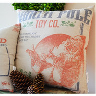 "Sink into the softness of this North Pole Toy Company double sided pillow - 20"" x 20"""