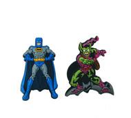 Jibbitz shoe charms for Crocs: Batman and Green Goblin