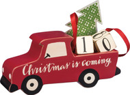 Christmas is Coming! Vintage Style Old Red Pickup Truck Countdown Calendar from PBK