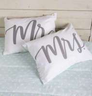 Mr. & Mrs. design makes a wonderful wedding gift or housewarming surprise! Set of two