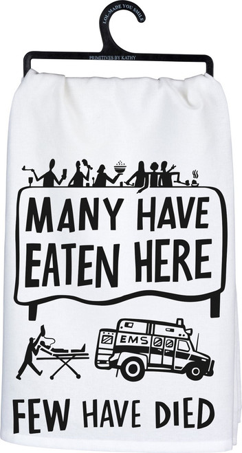 They'll be LOL over this one - Primitives By Kathy 100% cotton flour sack dish towel