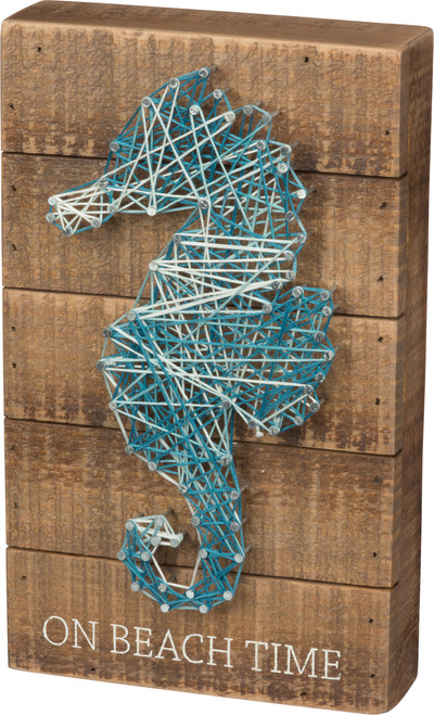 """Primitives By Kathy - String Art Seahorse """"On Beach Time"""""""
