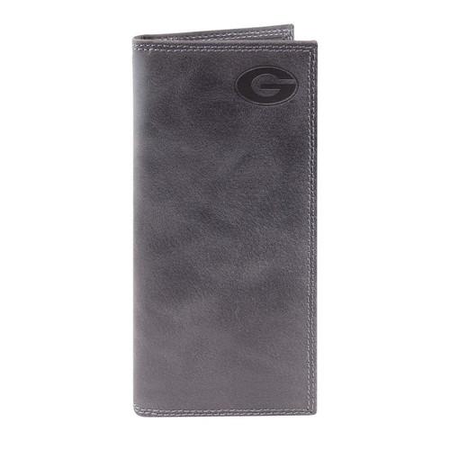 University of Georgia - Grey embossed leather roper wallet. Sic Em' Dawgs!