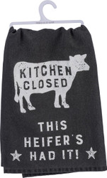 Urban Farmhouse Cow - Primitives By Kathy LOL 100% Cotton Dish Towel