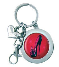 Red Stiletto Pumps Sexy Shoes Keychain Key Ring