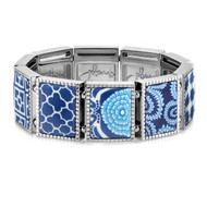Jilzarah's Navy Blue Square Stretch Bracelet is a beatiful addition to your collection