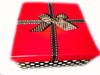 GIFT BOX:  This attractive black and white polka dot base has a red top with a double black and white polka dot ribbon is so sturdy you will find it hard to throw it away.  Use it to store your products, makeup, or jewelry.  It measures 6 x 6 x 3