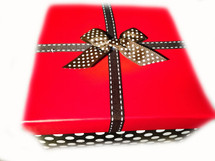Gift wrap your order.  The gift is wrapped lovingly in a box with a ribbon and a card that contains the content of the package.  You can even add a special message!  The picture is a sample of our gift wrapping.  We reserve the right to gift wrap the items to best suit the order, time of year, and occasion.