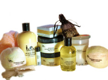 PAMPER HER GIFT PACKAGE:  This gift package consists of one of the following 12 items she will enjoy creating many special moments at home.  It includes:  1 Rejuvenating Body Wash; 1 Cleansing Soap; 1 Nourishing Body Butter; 1 Balancing Dead Sea Salt Scrub; 1 Hydrating Lip Balm; 1 Serenity Scented Candle; 1 Surrendering Massage Oil; 2 Energizing Bath Bomb; 1 Ramie Bath Pouf; 1 Small Wooden Scoop; and 1 Scented Sachet in an Organza Bag.