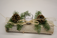 White Birch Candle log