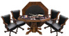 Hybrid Level Best 3-in-1 Combo Table with 4 Winslow Chairs