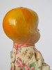 """c1920 Composition Doll 13"""" DRESSED DOLLIE Cloth Torso UNMARKED"""