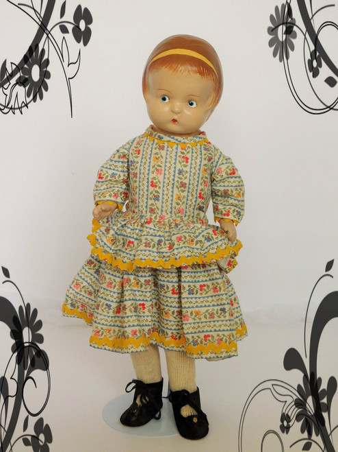 c1923-1930 E GOLDBERGER (PATSY TYPE) GOLD DOLL