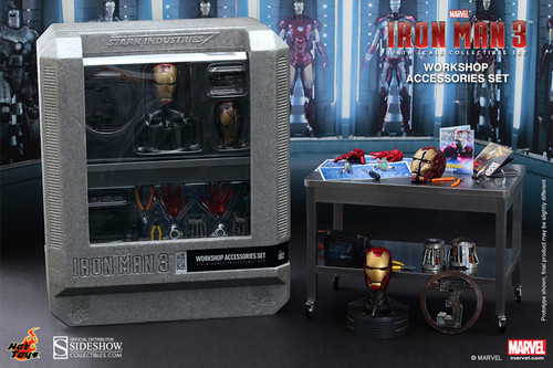 Marvel Iron Man 3 WORKSHOP ACCESSORIES KIT for Hot Toys Sixth Scale Figure_902240_NRFB