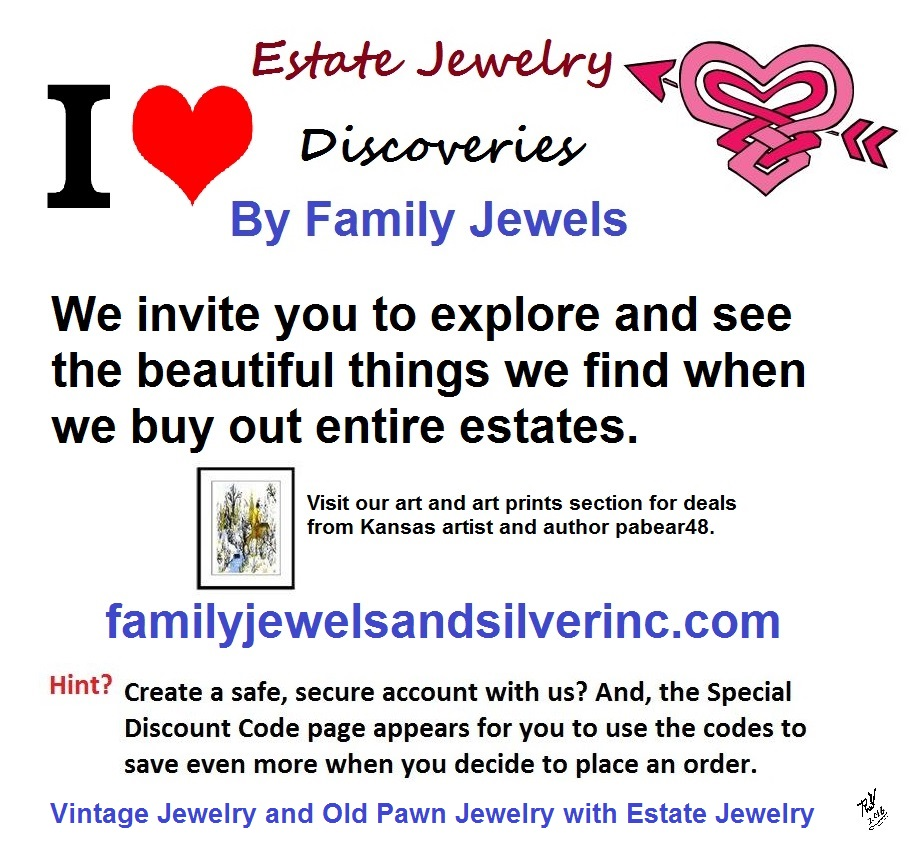 Vintage estate jewelry by Family Jewels